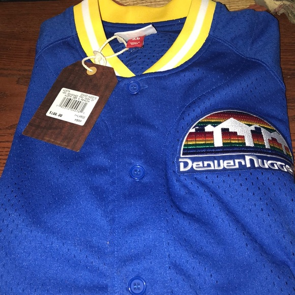 huge discount a2cd0 62ad2 Mitchell & Ness Denver Nugget warm up shirt